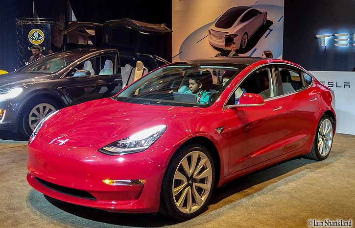 tesla showcases three vehicles at the canadian international autoshow road. Black Bedroom Furniture Sets. Home Design Ideas